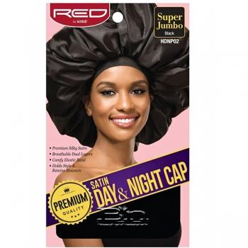 Red by Kiss HDNP02 Satin Day & Night Cap - Super Jumbo Black