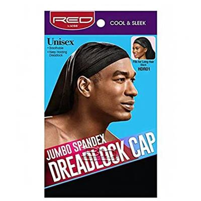 Red by Kiss HDR01 Jumbo Spandex DreadLock Cap - Fits for Long Hair Black