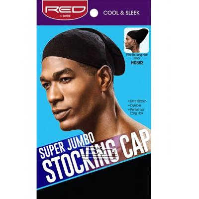 Red by Kiss HDS02 Super Jumbo Stocking Cap - Fits for long Hair Black