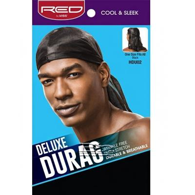 Red by Kiss HDU02 Deluxe Durag - One Size Black