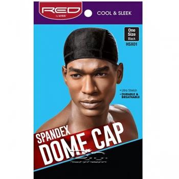 Red by Kiss HSX01 Spandex Dome Cap - One Size Black