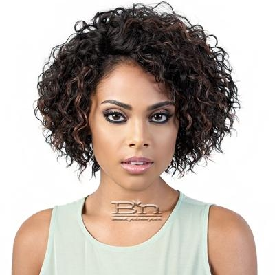 Motown Tress Human Hair Blend Lace Deep Part Wig - HBLDP ROX (4 inch deep part)