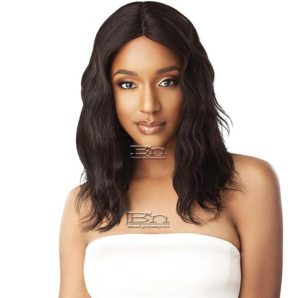 Outre Mytresses Gold Label 100% Unprocessed Human Hair Lace Front Wig  - NATURAL WAVE 20