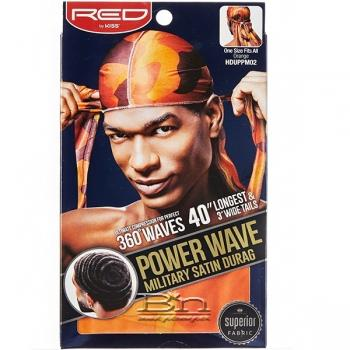 Red by Kiss HDUPPMXX Power Wave Military Satin Durag