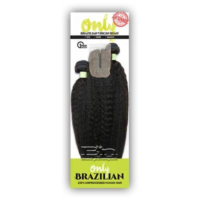 Zury Sis Only 100% Brazilian Virgin Remy Hair Weave - ONLY BRZ MULTI KINKY ST 4PCS (12/14/16 + closure)