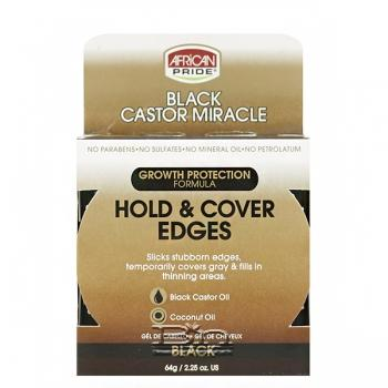 African Pride Black Castor Miracle Hold & Cover Edges - Black 2.25oz