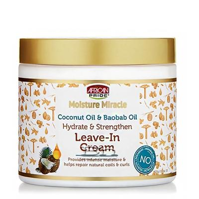 African Pride Moisture Miracle Hydrate & Strengthen Leave-In Cream 15oz