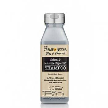 Creme of Nature Clay & Charcoal Soften & Moisture Replenish Shampoo 12oz