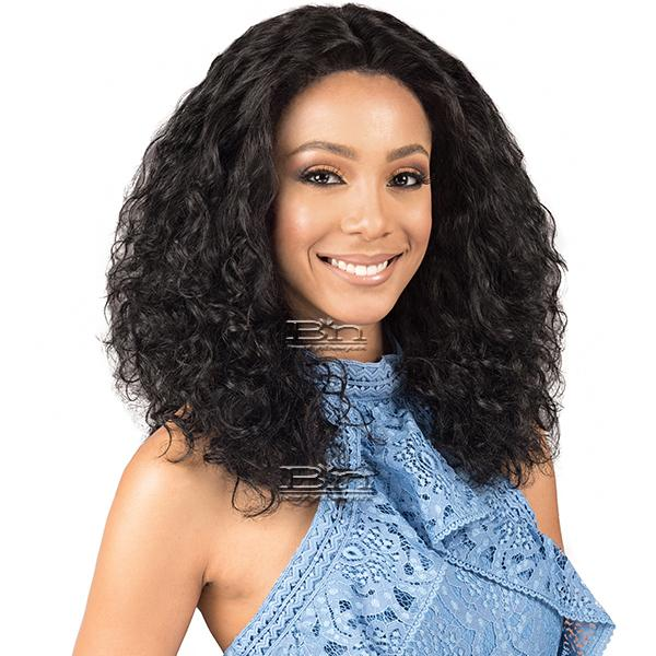 Bobbi Boss Indiremi 100% Virgin Remy Human Hair Lace Wig - MHRLF001 NATURAL WAVE 20 (4x4 Deep Lace Style)