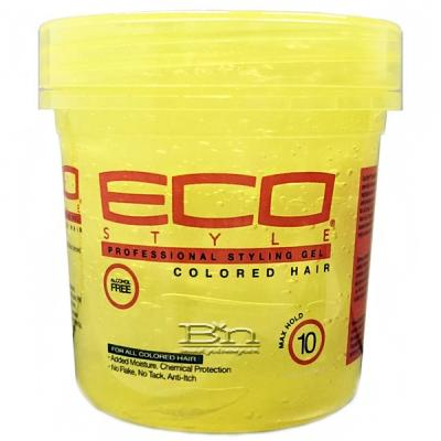 Eco Style Colored Hair Gel Max Hold 16oz