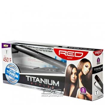 Red by Kiss Titanium Styler Flat Iron 1 Inch FITS100