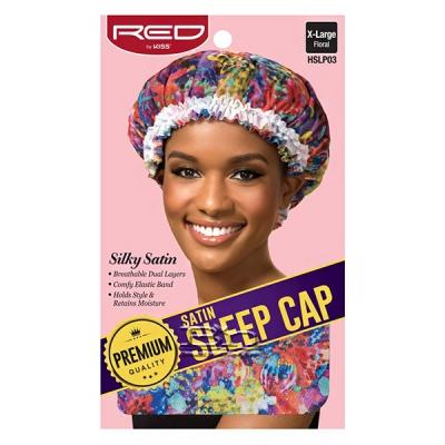 Red by Kiss Satin Sleep Cap X-Large HSLPXX