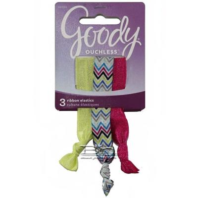 Goody #06966 Ouchless 3 Ribbon Elastics