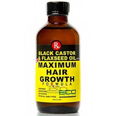 Eco Style Black Castor & Flaxseed Oil Maximum Hair Growth Formula 4oz