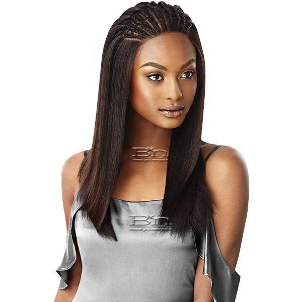 Outre Mytresses Black Label 100% Unprocessed Human Hair 360 Frontal Lace Wig - NATURAL STRAIGHT