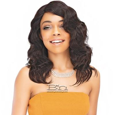Janet Collection 100% Natural Virgin Remy Human Hair Deep Part Lace Wig - Natural 14 (side part)