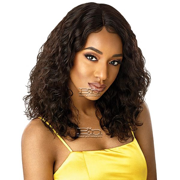 Outre Mytresses Gold Label 100% Unprocessed Human Hair Lace Front Wig - NATURAL CURLY 20-22