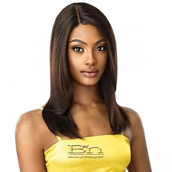 Outre Mytresses Gold Label 100% Unprocessed Human Hair Lace Front Wig - NATURAL STRAIGHT 20-22