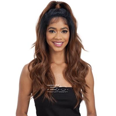 Model Model Synthetic Half Up Lace Front Wig - BLISS