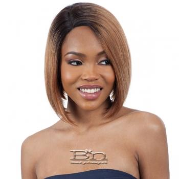 Mayde Beauty Lace and Lace 100% Human Hair Lace Front Wig - ANGLED BOB