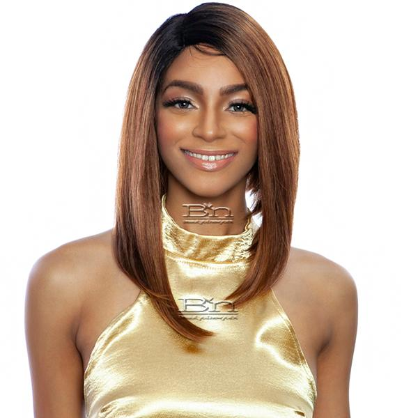 Isis Melanin Queen Human Hair Blend Wig - MLFV103 DIVINE STRAIGHT 12