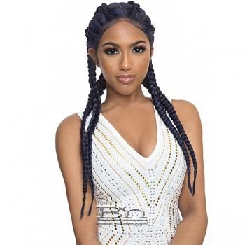The Wig Human Hair Blend Lace Front Wig - LH BRAID WOW