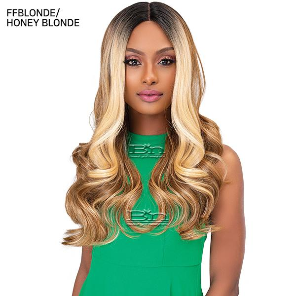 Janet Collection Synthetic Hair Color Me Lace Front Wig - LOVELY