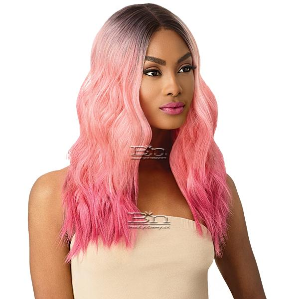 Outre Color Bomb Synthetic Swiss Lace Front Wig - CELESTE