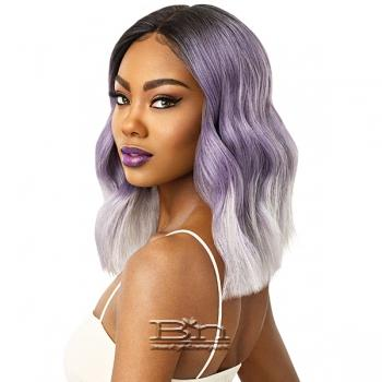 Outre Color Bomb Synthetic Swiss Lace Front Wig - NAHLA