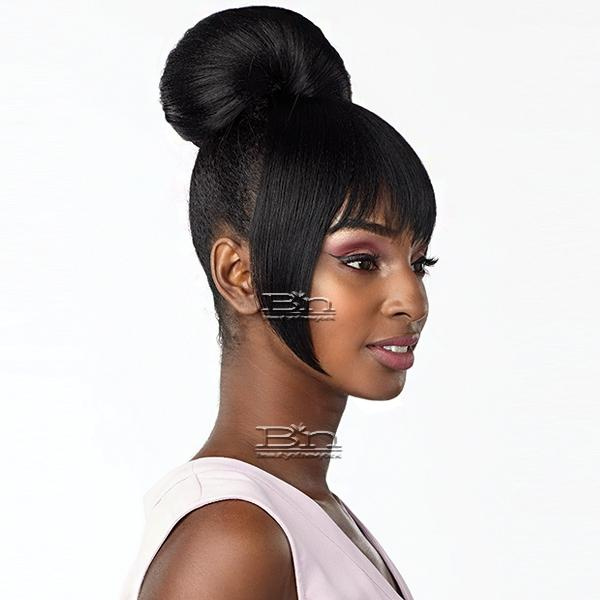 Sensationnel Synthetic Instant Bun with Bangs - HAYLIE