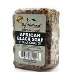By Natures African Black Soap with Black Castor Oil 6oz