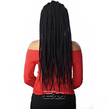 Sensationnel Cloud 9 Synthetic Hair 13x7 Lace Parting Swiss Lace Wig - FEED IN FULANI CORNROW