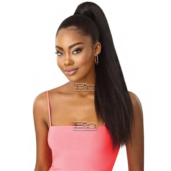 Outre Synthetic Pretty Quick Wrap Pony - KINKY STRAIGHT 24