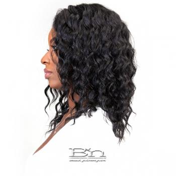 Janet Collection Aqua Tress Wet & Wavy 100% Natural Virgin Remy Hair Lace Wig - FRENCH DEEP
