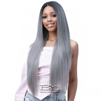 Bobbi Boss Human Hair Blend 13X6 Frontal Lace Wig - MOGLWST32 NATURAL STRAIGHT 32