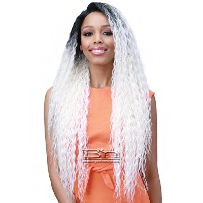 Bobbi Boss Human Hair Blend 13X6 Frontal Lace Wig - MOGLWBR32 BRAZILIAN WAVE 32