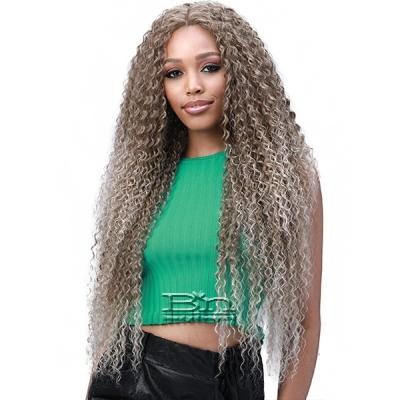 Bobbi Boss Human Hair Blend 13X6 Frontal Lace Wig - MOGLWJE32 JERRY CURL 32