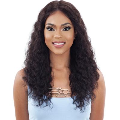 Mayde Beauty Lace and Lace 100% Human Hair Lace Front Wig - NATURAL LOOSE CURL