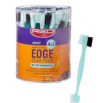 Red by Kiss BSH29 Professional Edge 4in1 Brush with Fine Edge Combs & Spatula Bucket(48ea)