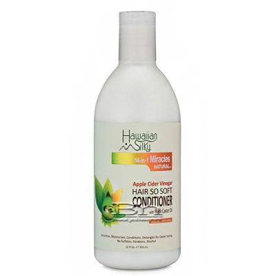 Hawaiian Silky 14-in-1 Miracles Natural Hair So Soft Conditioner with Black Castor Oil 12oz
