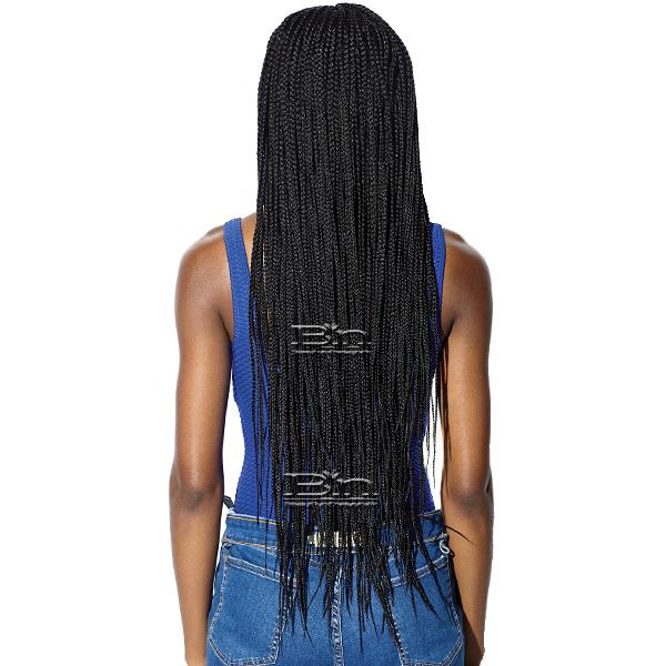 Sensationnel Ruwa Synthetic Hair 4x4 Lace Parting Swiss Lace Wig - BOX BRAID 36