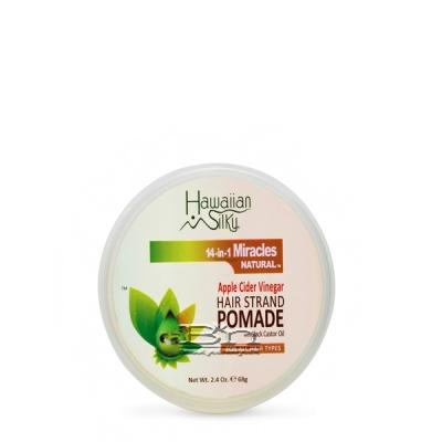 Hawaiian Silky 14 In 1 Miracles Apple Cider Vinegar Hair Strand Pomade with Black Castor Oil 2.4oz