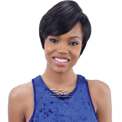 Mayde Beauty Synthetic Invisible Lace Part  Wig - SIDE-SWEPT PIXIE