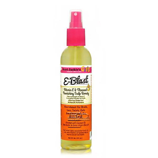 Aunt Jackie's Curls & Coils Girls E-Blast Vitamin E & Flaxseed Nourishing Scalp Remedy 8oz