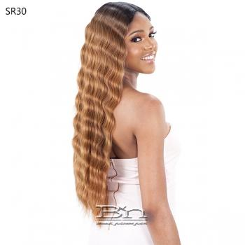 Model Model Lace To Lace Synthetic Hair 5 inch Deep Center Part Lace Front Wig - TRIPLE BARREL CURL 020