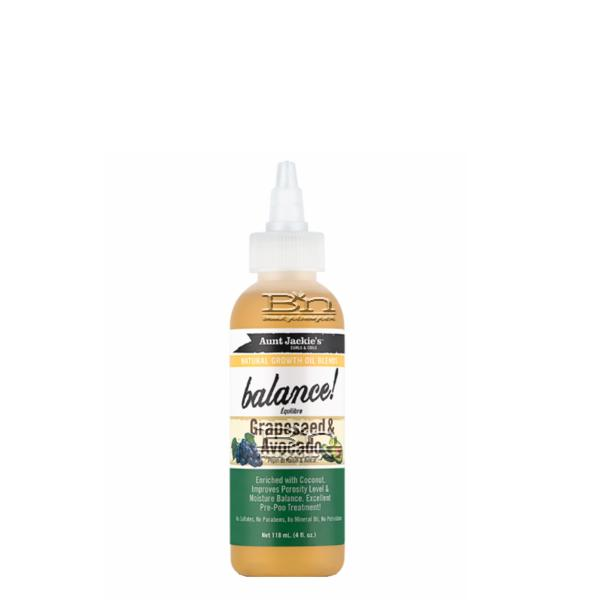 Aunt Jackie's Curls & Coils Natural Growth Oil Blends Balance! Grapeseed & Avocado Growth Oil 4oz