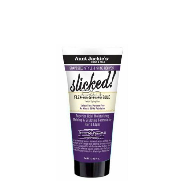 Aunt Jackie's Curls & Coils Grapeseed Style Slicked Flexible Styling Glue 4oz