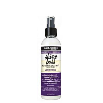 Aunt Jackie's Curls & Coils Grapeseed Style Shine Boss Refreshing Sheen Mist 4oz
