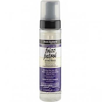 Aunt Jackie's Curls & Coils Grapeseed Style Frizz Patrol Anti-Poof Twist & Curl Setting Mousse 8.5oz