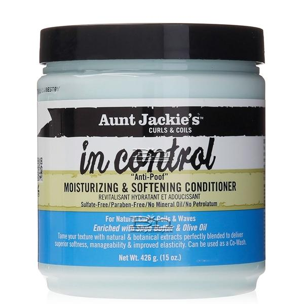 Aunt Jackie's Curls & Coils In Control Anti-Poof Moisturizing & Softening Conditioner 15oz